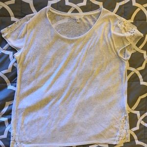Victoria secret blouse with lace trimming